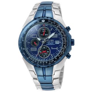 ALBA 時尚運動錶(IP藍)