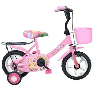 【Adagio】12吋酷寶貝童車momo购物附置物籃-台灣製造(粉紅)