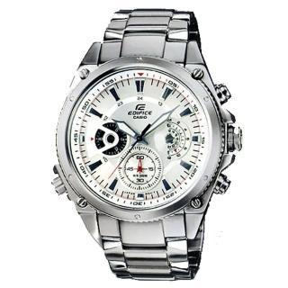 【CASIO】EDIFICE 簡約風尚都會晶鑽運動錶(白 EFR-511D-7AVDR)