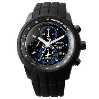 SEIKO 自我極限鬧鈴賽車錶(黑藍)