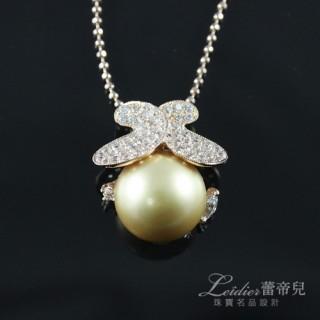 【蕾帝兒珠寶】-春意金色貝珠墜鍊