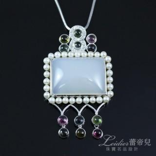 【蕾帝兒珠寶】-永愛天然玉髓珍珠墜鍊