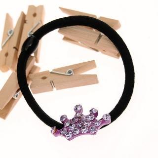 【Lady c.c.】寶氣皇冠造型必備O型束(紫)