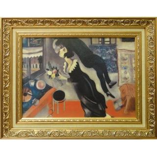 【開運陶源】Marc CHAGALL馬克 夏卡爾的畫-生日快樂中幅