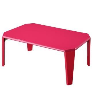 【EASY HOME】日式鏡面折疊和室桌/小茶几(魔鏡紅)