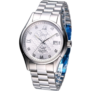 【Ogival 愛其華】奢華精選 機械錶(3356AJMS銀色)