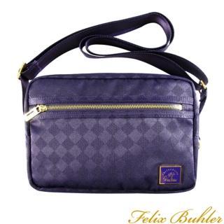 【Felix Buhler】鑽石緹花系列 小巧側背包(紫)