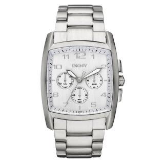 【DKNY】耀眼新星三眼計時腕錶(鋼帶-銀 NY1497)