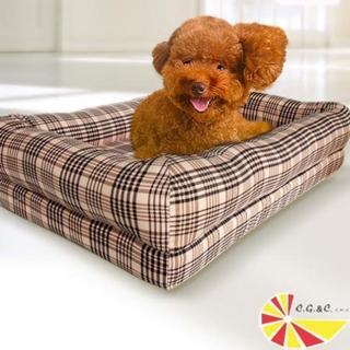 【凱蕾絲帝】英倫粉格記憶寵物時尚床墊(80*50cm)