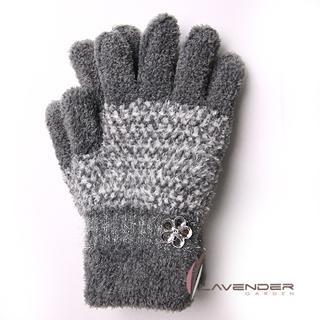 【Lavender】典雅晶鑽雙層手套(灰色)