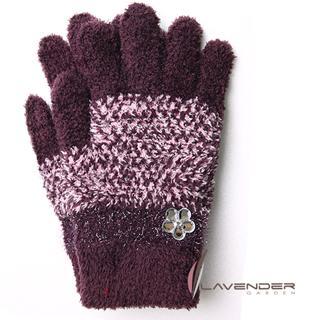 【Lavender】典雅晶鑽雙層手套(紫色)