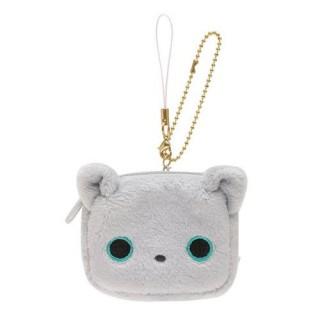 【San-X 】小襪貓表情毛絨方方小物收納吊飾-小灰貓