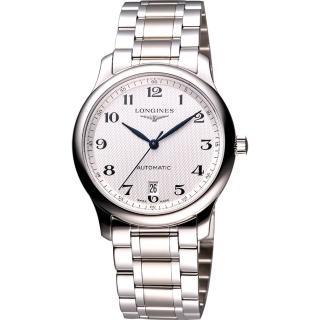 【LONGINES 】巨擘系列大三針日期機械錶(L26284786-鋼帶)