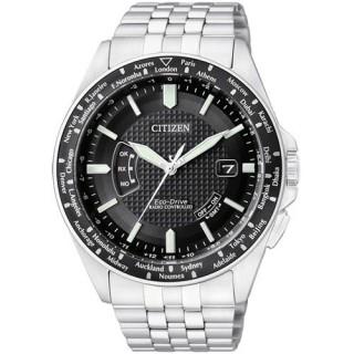 【CITIZEN】掌握時刻萬年曆光動能腕錶(銀黑CB0027-51E)