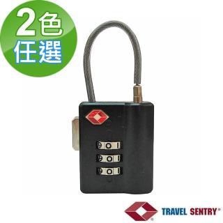 【TSA海關鎖】鋼索鎖(2入)