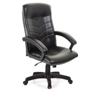【吉加吉】高背箭紋 皮椅 電腦椅 TW-1005(黑色)
