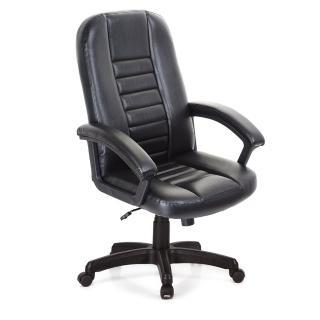 【吉加吉】高背方條 皮椅 電腦椅 TW-1021(黑色)