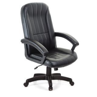 【吉加吉】高背藍球紋 皮椅 電腦椅 TW-1009(黑色)