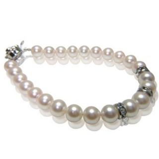 小樂珠寶-甜心俏麗感-3A南洋深海貝珍珠手鍊