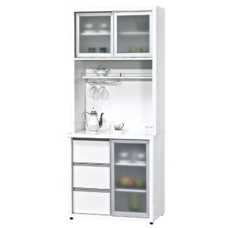 【顛覆設計】晶晶2.7尺高餐櫃(兩色可選)