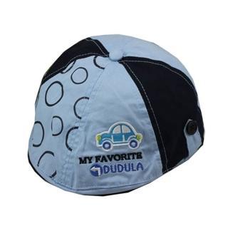 韓版-小汽車造型鴨舌帽-藍色