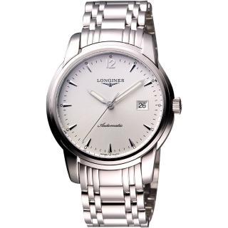 【LONGINES】 Saint-Imier 經典復刻腕錶-銀(L27664726)