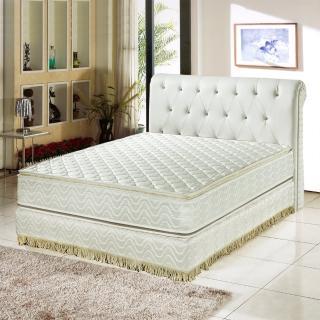【睡芝寶-正四線3M防潑水+護邊強化蜂巢式獨立筒床墊-單人3.5尺】