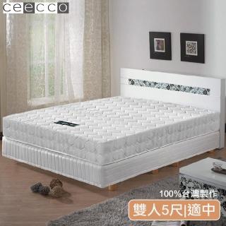 【ceecco】米雪兒高彈力高碳鋼健康護背床墊(5尺)