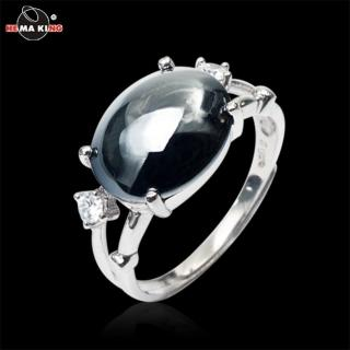 【HEMAKING】銀黑羅曼黑膽戒指(925純銀)