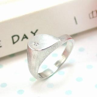 【伊飾童話】極簡風尚*水滴純銀戒指