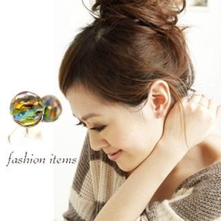 【微笑安安】閃耀切割圓珠925純銀針式耳環(共4色)