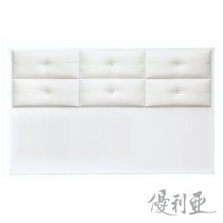 【優利亞-雅典娜水鑽】雙人5尺床頭片(白色)