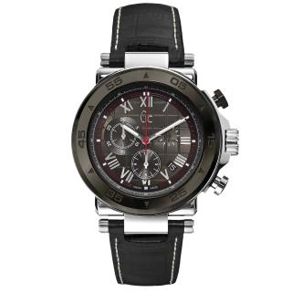 【Gc】 精密堡壘三眼計時都會腕錶(皮帶-黑 X90004G5S)