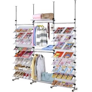 【巴塞隆納】388型多角度旋轉式衣架鞋架層架雜誌書架