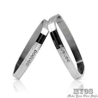 【MYOS】永恆不變_316L西德鋼情侶手環(銀色款)