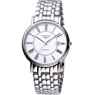 【LONGINES】Presence經典羅馬機械腕錶(L48214116)