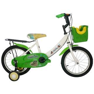 【Adagio】16吋酷樂狗打氣胎童車附置富邦購物臺物籃(綠色)