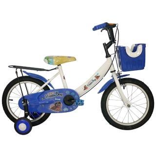 【Adagio】16吋酷樂狗打氣胎童車附置物籃(momo頻道藍色)