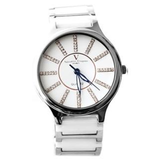 【范倫鐵諾˙古柏】專櫃華麗水鑽 精密陶瓷腕錶 禮物原廠公司貨