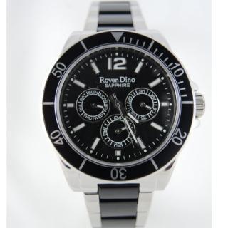【RD 羅梵迪諾】繽紛活力色彩三眼大錶面腕錶-黑(650-496 )