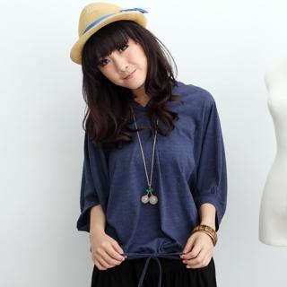 【衣心衣意中大尺碼】休閒舒適.韓版顯瘦寬版帽T(藍-紅SM3A3118)