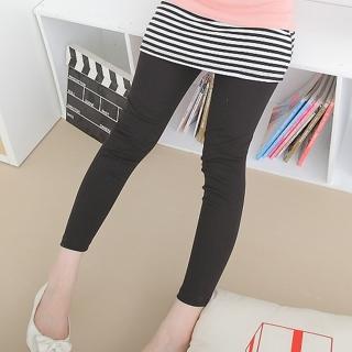 【衣心衣意中大尺碼】可愛甜蜜 條紋百搭褲裙層次內搭褲(黑-藍-紅-灰SQ1A3017)