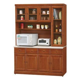 【顛覆設計】道格5.3尺樟木色石面餐櫃全組