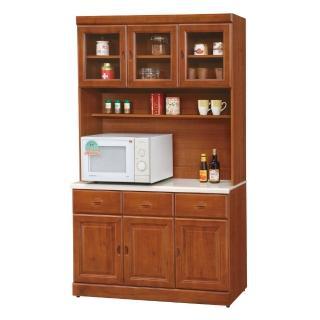 【顛覆設計】道格4尺彰木色石面餐櫃全組
