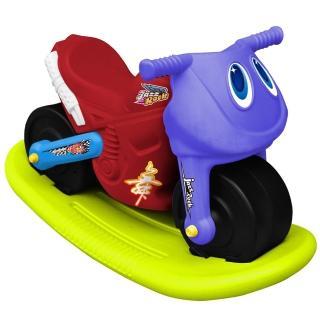 【寶貝樂】小爵士摩托車造型學步助步車附搖搖板(紅)