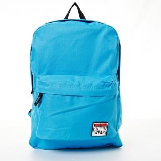 【VISION STREET WEAR】潮牌時尚多色運動休閒雙肩後背包(水藍VB2032L)