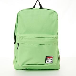 【VISION STREET WEAR】潮牌時尚多色運動休閒雙肩後背包(蘋果綠VB2032LG)