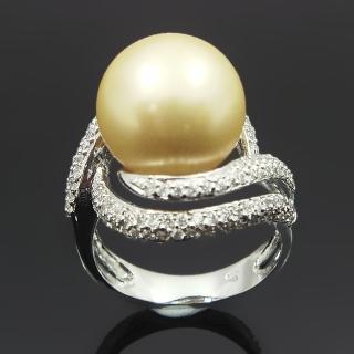 【蕾帝兒名品】魅力之星金色貝珠戒指