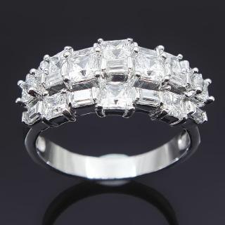 【Celosa名品-】閃亮晶鑽戒指