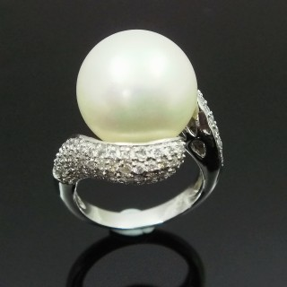 【蕾帝兒名品】貴氣白色貝珠戒